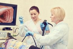 Endoscopia fibroóptica gastrointestinal Fotos de archivo