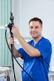 Endoscopist masculino del doctor Fotos de archivo libres de regalías