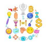 Endowment icons set, cartoon style. Endowment icons set. Cartoon set of 25 endowment vector icons for web isolated on white background Stock Photo