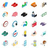 Endowment icons set, isometric style. Endowment icons set. Isometric set of 25 endowment vector icons for web isolated on white background Stock Image