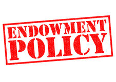 ENDOWMENT POLICY. Red Rubber Stamp over a white background Royalty Free Stock Photography