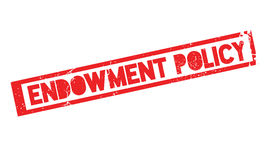 Endowment Policy rubber stamp Stock Images