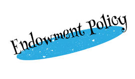 Endowment Policy rubber stamp Royalty Free Stock Photo
