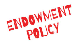 Endowment Policy rubber stamp Royalty Free Stock Photos