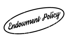 Endowment Policy rubber stamp Stock Image