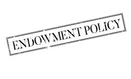Endowment Policy rubber stamp Royalty Free Stock Images