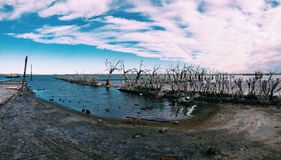 Endroit abandonné à Buenos Aires Image libre de droits
