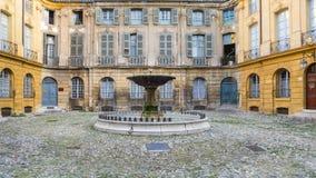 Endroit Albertas Aix-en-Provence de fontaine Photo stock