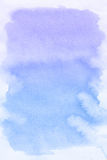 Endroit bleu, fond abstrait d'aquarelle Photo stock