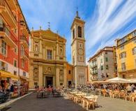 Endroit célèbre Rossetti dans Nice des Frances photos libres de droits