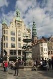 Endroit central à Copenhague, Danemark Photo libre de droits