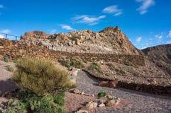 Endroit d'observation près de volcan de Teide Photographie stock