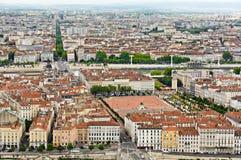 Endroit de Bellecour, Lyon, France Images libres de droits