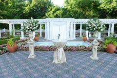 Endroit de mariage en parc Photographie stock libre de droits