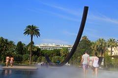 Endroit de Massena de matin dans Nice la ville Images libres de droits