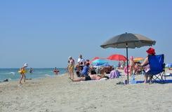 Endroit de plage de Corbu, silencieux et vierge en Roumanie Photos libres de droits