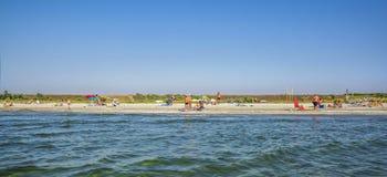 Endroit de plage de Corbu, silencieux et vierge en Roumanie Image stock