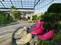 Endroit de relaxation à la station de vacances Therme Balotesti photos libres de droits