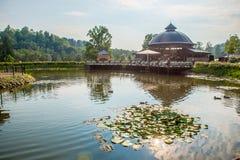 Endroit de visite de parc de Belmontas à Vilnius photo stock