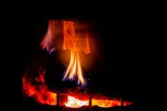 Endroit du feu à la maison Photos stock