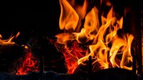Endroit du feu à la maison Photo libre de droits