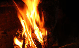 Endroit du feu Photo stock