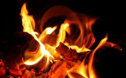 endroit en bois du feu image stock