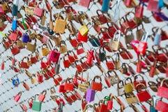Endroit et symbole gentils de l'amour dans la vieille ville de Salzbourg, Autriche/clé Photographie stock libre de droits