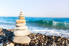 Endroit parfait pour contempler et détendre Paix et harmonie image stock
