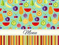 Endroit plat d'esprit de fond de nourriture de style de vecteur sans couture pour le texte Images stock