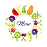 Endroit plat d'esprit de fond de nourriture de style de vecteur sans couture pour le texte Image libre de droits