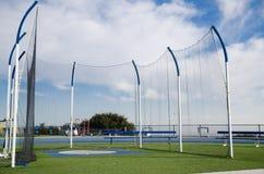 Endroit pour projeter au stade d'athlétisme Images stock
