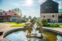 Endroit préféré de Vilnius, parc de Belmontas Images stock