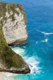 Endroit rêveur de plongée de point de Manta de Bali à l'île de Nusa Penida Images libres de droits