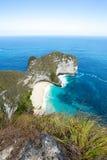 Endroit rêveur de plongée de point de Manta de Bali à l'île de Nusa Penida Photo stock