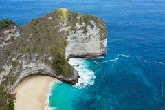Endroit rêveur de plongée de point de Manta de Bali à l'île de Nusa Penida Image stock