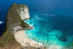 Endroit rêveur de plongée de point de Manta de Bali à l'île de Nusa Penida Photographie stock