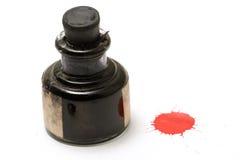 Endroit rouge d'encre Images stock