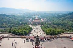 Endroit scénique de Lingshan Bouddha image libre de droits