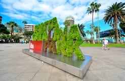 Endroit touristique et commercial dans mamie Canaria Image libre de droits