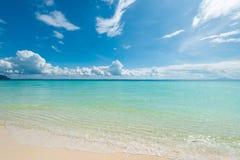Endroit tropical idéaliste de paysage très beau Image libre de droits