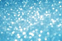 Endroits blancs sur le fond bleu Photo libre de droits