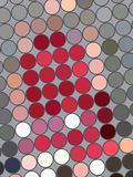 Endroits colorés sur le gris Photos libres de droits
