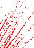 Endroits de sang Images libres de droits