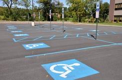 Endroits de stationnement d'handicap Photographie stock libre de droits