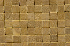 The ends of the boards are a solid beautiful background. Beautiful surface of fresh wood Royalty Free Stock Images