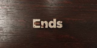 Ends - grungy wooden headline on Maple  - 3D rendered royalty free stock image Royalty Free Stock Image