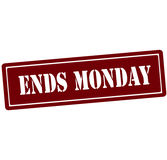 Ends Monday Royalty Free Stock Images