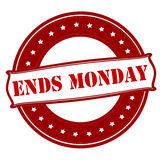 Ends Monday Stock Photo
