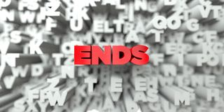 ENDS -  Red text on typography background - 3D rendered royalty free stock image Stock Image